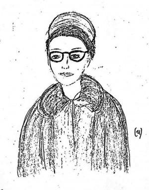 FBI sketch of Bonnie in disguise.