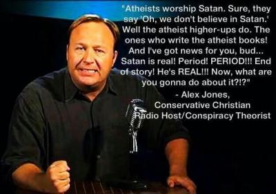 ALEX JONES SATAN IS REAL