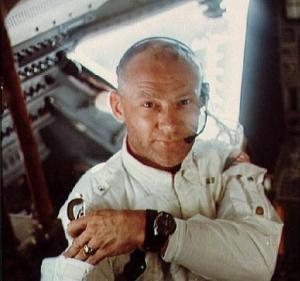 Sunday Buzz Aldrin in lunar module