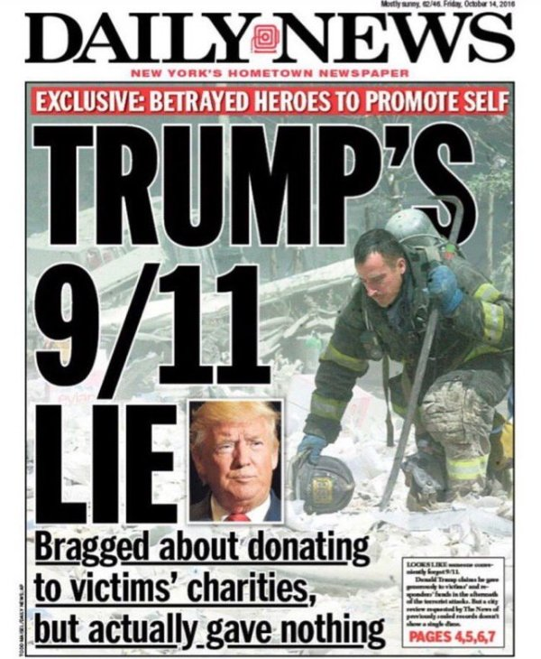 Trump Lies About 9_11 Donation
