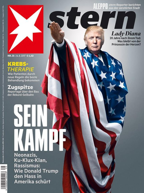 Trump Stern Sein Kampf