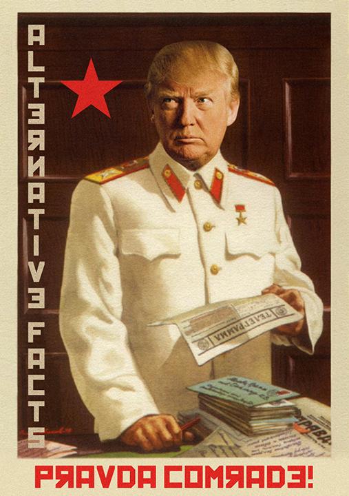 Donald Trump :: Alternative Facts :: Pravda Comrade